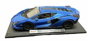 Maisto Lamborghini Sian FKP 37 Special Edition Die Cast Car Model 1:18 Blue