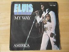 Elvis 45rpm record & Picture Sleeve, My Way/America, RCA # PB-1165, Portugal