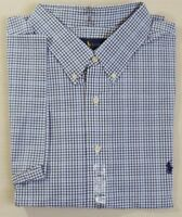 Ralph Lauren Polo Pony Classic Fit Short Slvs Gingham Plaid Dress Shirt Big Tall