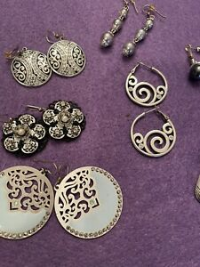Brighton earrings lot.  8 Pairs. Lots Of Styles