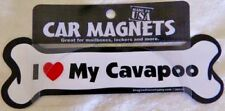 Dog Magnetic Car Decal - Bone Shaped - I Love My Cavapoo - Made in Usa - 7""