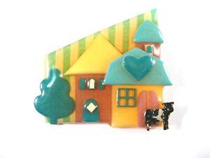 House Pins by Lucinda ~Farm Cow Silo Barn Heart Blue Green Yellow