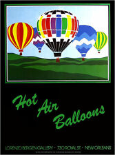 Lorenzo Bergen Hot Air Ballon Festival 1982 New Orleans Poster