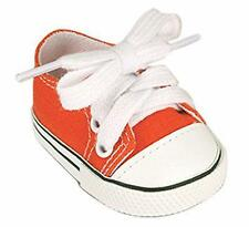 "ORANGE Low Top Sneaker Canvas fit American Girl 18"" doll shoes sneakers lo"
