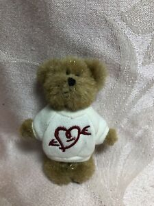 Boyds Bears Mini Message Bear Valentine With Red Heart