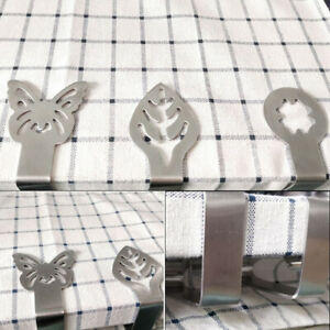 6pcs Tablecloth Clips Stainless Steel Leaf Star Moon Non-slip Tablecloth Fixa HB