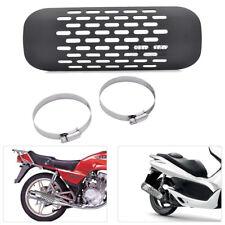 1x Motorcycle Motorbike Exhaust Muffler Pipe Heat Shield Covers Heel Guard Black