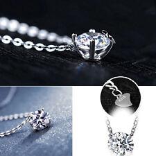 925 Silver Korea Style Clavicle Crystal Rhinestone Pendant Charming New