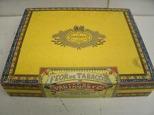 Vintage wood Cigar Box Flor de Tobacos PARTAGAS 1845