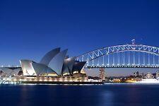 A0 SIZE CANVAS PRINT  SYDNEY CITY BRIDGE HOUSE  PHOTO  CITYSCAPE  AUSTRALIA