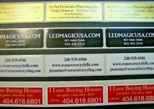 Custom Printed Labels 1000 Rectangle 34 X 2 Business Stickers 1 Color Seals