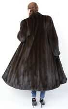 US1077 STYLISH MINK FUR COAT FULL LENGTH FEMALES L - abrigo de visón Nerzmantel