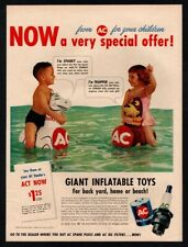 1959 AC Oil Filter - Spark Plugs - Kids Playing In Pool - ZORRO  VINTAGE AD