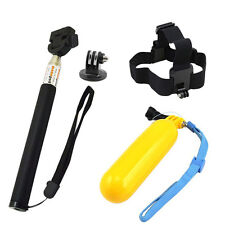Head Chest Belt for Gopro Hero 5 4 3 SJ4000 Accessories Float Grip Action Camera