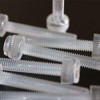 20 x Viti a Testa Zigrinata in Plastica Acrilica, a taglio + zigrinate M6 x 20mm