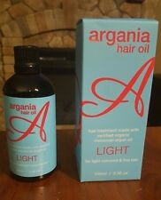 NIB Argania Hair Oil Hair Treatment w/organic Moroccan Argan Oil  3.4 Oz. LIGHT