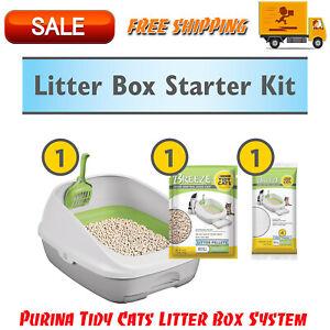 Purina Tidy Cats Litter Box System, BREEZE System Starter Kit Litter Box
