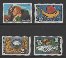 Australia, selection of 4 u/m/m, Food Industries SG510/2 & Australia Day SG837.