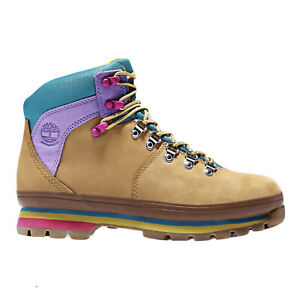 Timberland Women Euro Hiker Mixed Media Waterproof Leather Boots Size 7.5