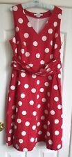 Boden dress U.K. 16 Long - Red spot - Linen & cotton