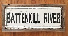 Battenkill River Vermont Orvis Reel Fly Fishing Trout Fish Vintage Steel Sign