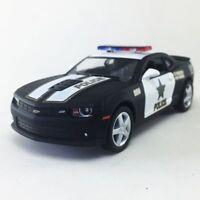 "New 5"" Kinsmart 2014 Chevrolet Camaro Police Car 1:38 Chevy Cop Diecast Model"