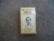 vintage Pullman Company Railroad Italian man employee photo ID badge pin back 3