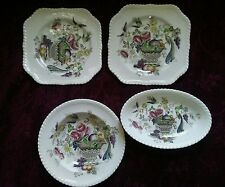 Johnson Brothers BIRD OF PARADISE 4 Pc. Salad Plates & Bowls - FREE U.S.SHIPPING