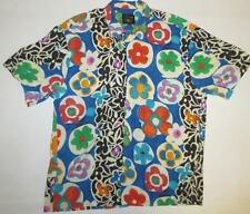 Men's Vtg JAMS WORLD Crushed Rayon Hawaiian Shirt *BUBBLES* Size Large