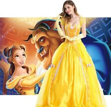 NEW DISNEY BEAUTY & THE BEAST PRINCESS BELLE COSTUME DRESS WOMEN LADIES ADULT L