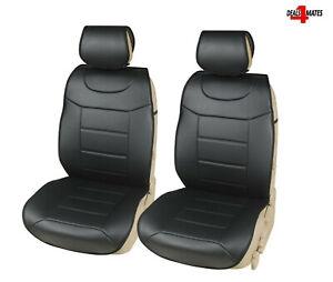 2x Nero Ecopelle Resistente Anteriore Coprisedili Auto Protezioni per Mini BMW