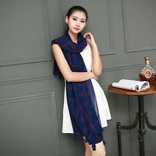 Women Girl Autumn Winter Large Long Cotton BlendCasual Scarf Wrap Shawl