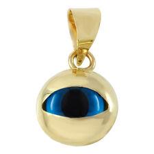 Polished 14k Yellow Gold Blue Eye Evil Eye Pendant