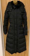 ZARA LADIES BLACK KNEE LENGTH FITTED WATERPROOF COAT Size Small 8-10 WORN ONCE