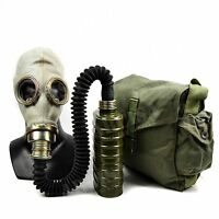 Soviet era Polish gas mask OM14  MUA+hose. New full set original equipment