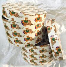 2 Schachteln Dose Aufbewahrung Boxen 2er Set Teddys Geschenk Kinder 23 + 21,5 cm