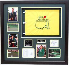 Sir Nick FALDO Signed MASTERS Framed Display Inc 2014 Flag AFTAL COA Autograph
