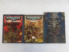 Lot of 3 WARHAMMER 40,000 and WARHAMMER ONLINE Role Playing Games Books