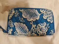 VERA BRADLEY Zip Around Wallet ~ BLUE LAGOON (retired pattern)