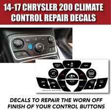 14-17 Chrysler 200 Ac Climate Control Button Repair Decals Stickers