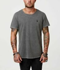 Darium standard basic plain tshirt S black grey acid wash surf dive ski skate