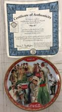 Coca-Cola Collector Calendar Plate #3 / Mar / Bradford Exchange / w/ COA