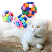 Handmade Bells Cat Bouncy Ball Pet Interactive Toy Activity Training Tool
