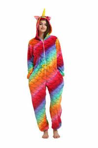 Adult Unicorn Unisex Kigurumi Animal Onsie01 Cosplay Costume Pajamas Fancy Dress