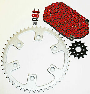 Honda CRF450 R 2002-14 / CRF450 X 2005-14 Red O Ring Chain & Sprocket 14/48 116L