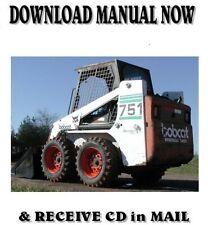 Bobcat 751 Skid Steer Loader Factory Shop Service Repair Manual On Cd
