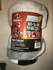 Incredibles 2 We Are Incredible Superhero Plush Soft Throw Blanket, 46in x 60in