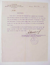 1928 Hankow China Document Russian Woman Traveling Manila Introduction Letter