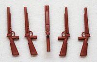 5 x SCHROTFLINTE GEWEHR DOPPELLÄUFIG Playmobil zu Cowboy Soldat Jäger > SALE !!!