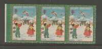 Korea Charity cinderella Revenue Stamp 10-15- mnh gum strip 3